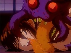 Scared anime girl gets trapped in a nasty monster spiders arms and gets fucked hard