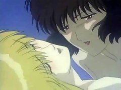 Cute anime brunette adores plunging chicks in lesbian fuck